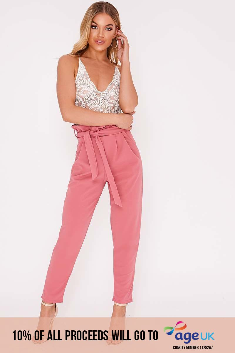 CODIA ROSE PAPERBAG SKINNY TROUSERS