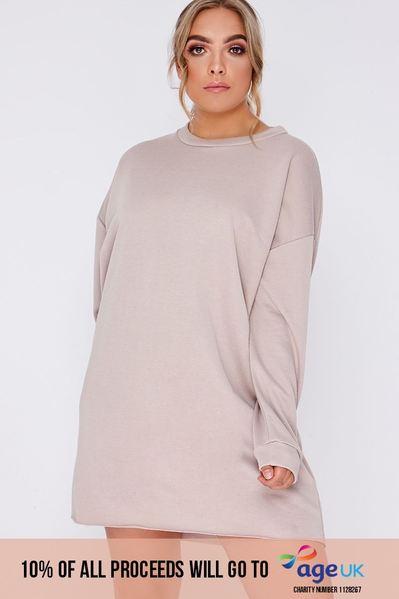 CURVE LOUNA STONE OVERSIZED SWEATER DRESS