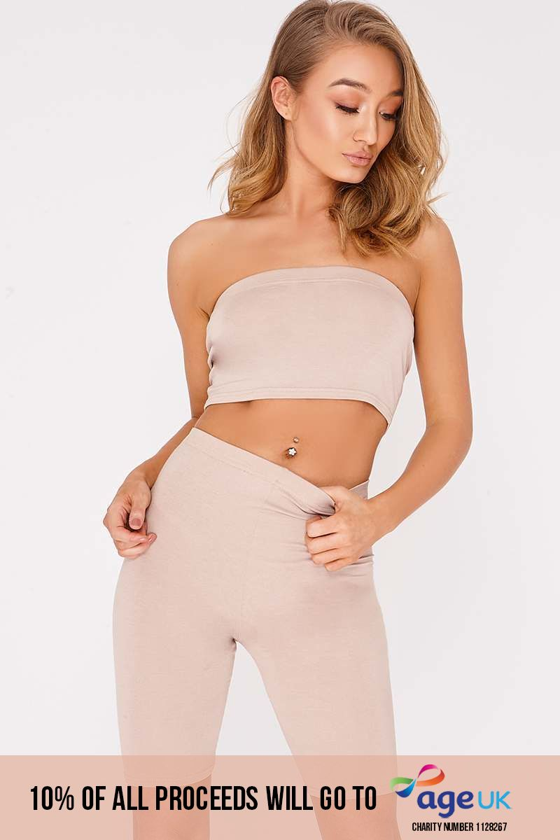 BASIC STONE BANDEAU CROP TOP