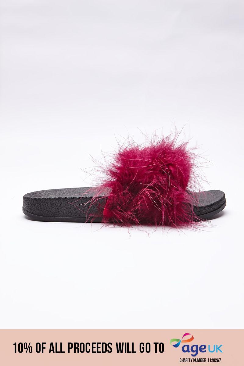 dark red extreme fluffy sliders