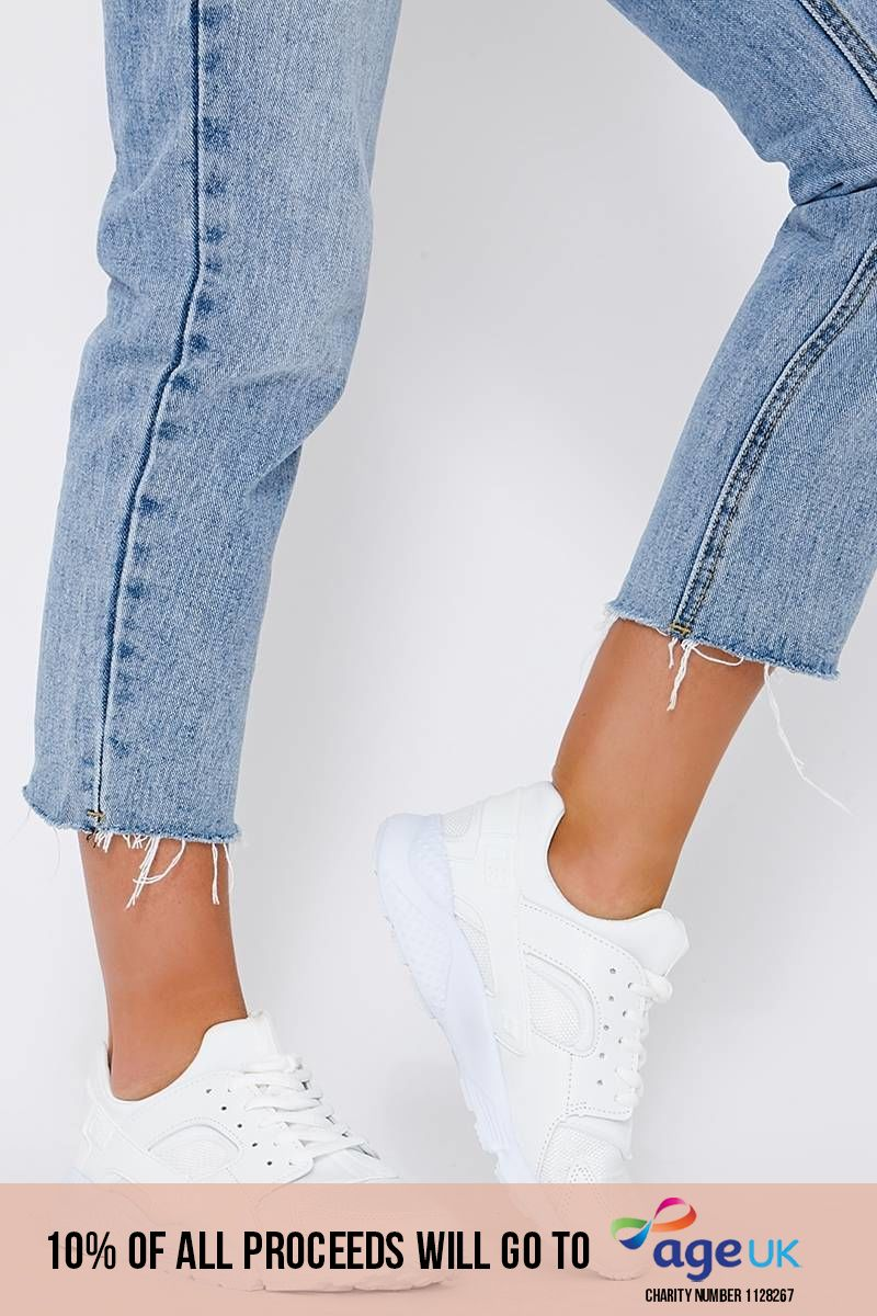 KARLYSSA WHITE CHUNKY SOLE TRAINERS
