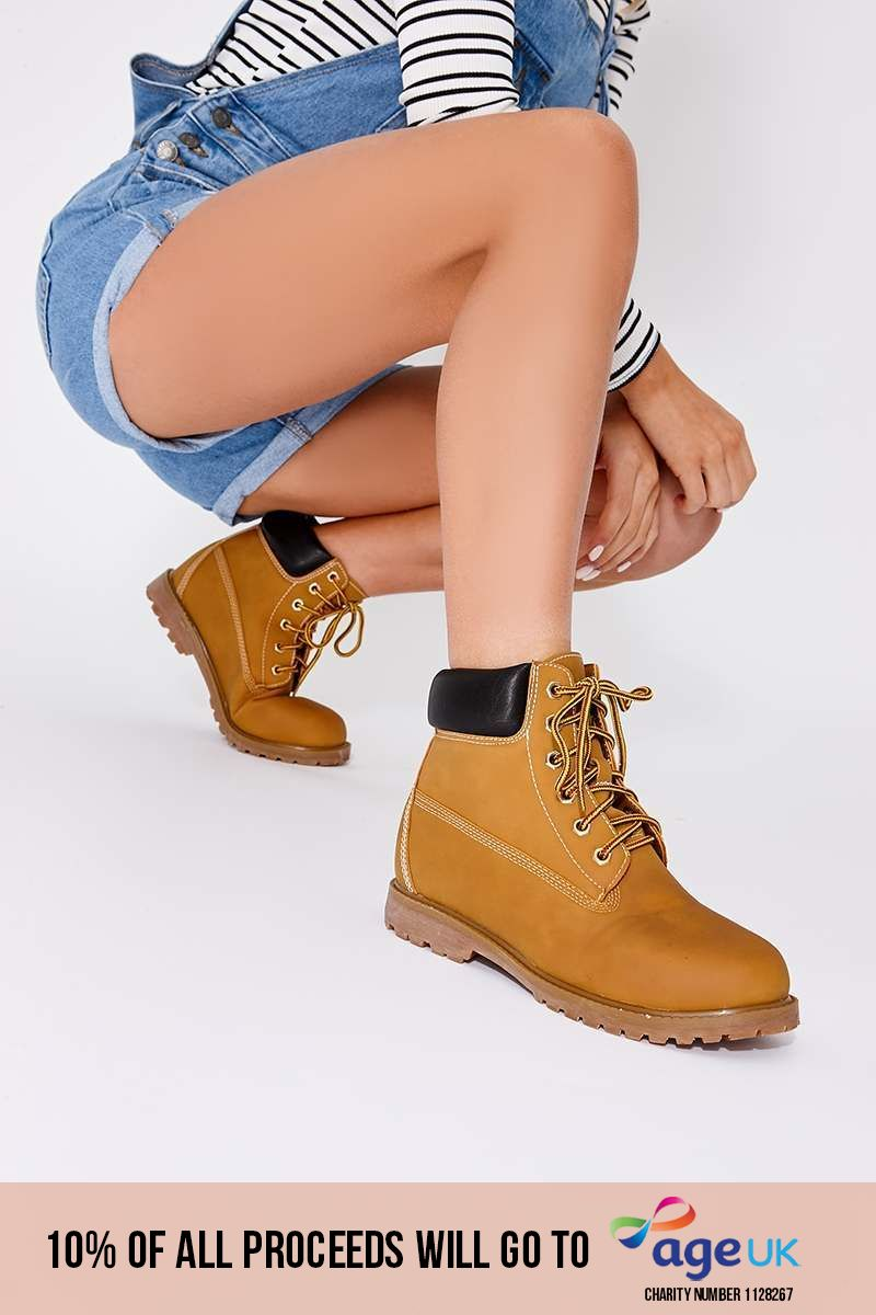 tan lace up festival boots