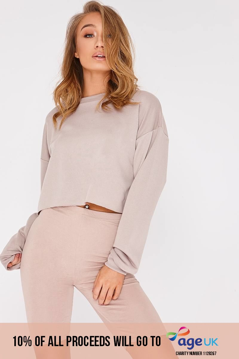 stone cropped sweater