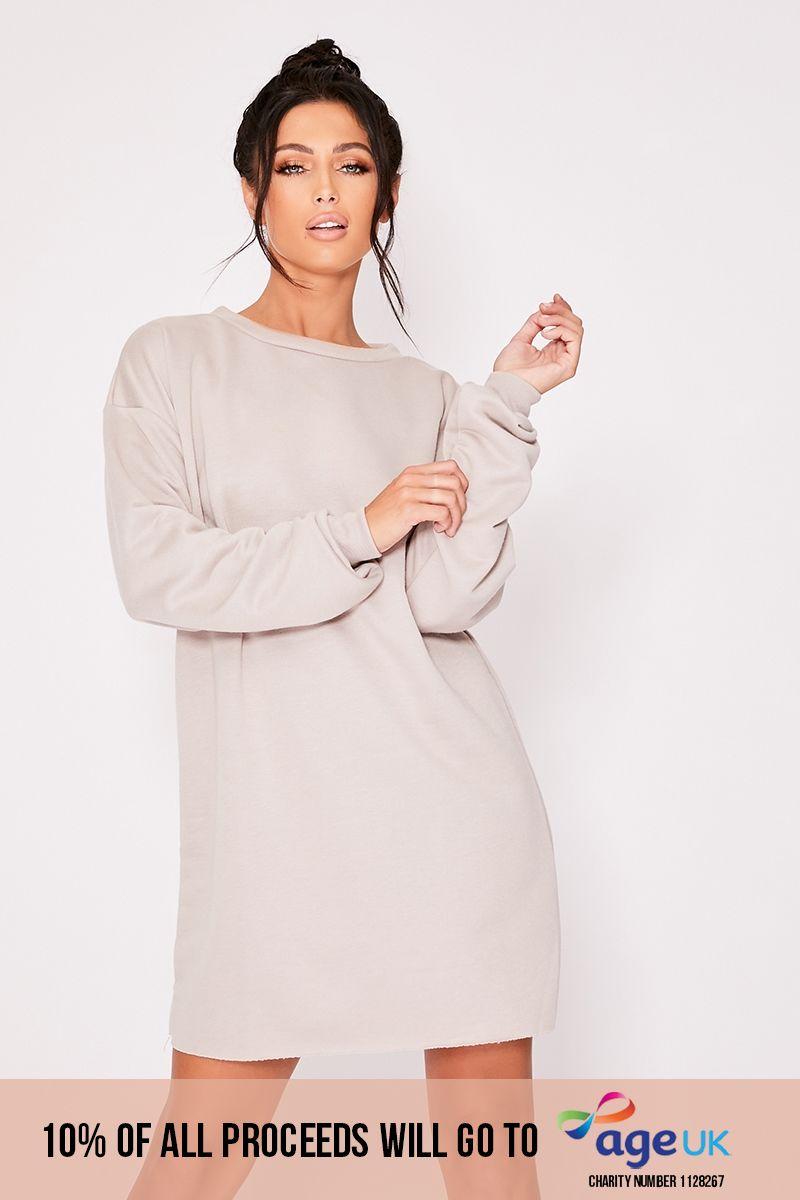 stone oversized sweater loungewear dress