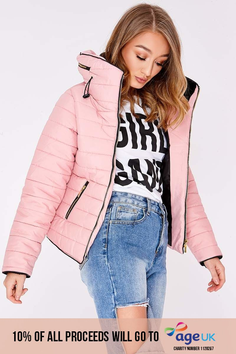 OSSIE PINK PADDED JACKET