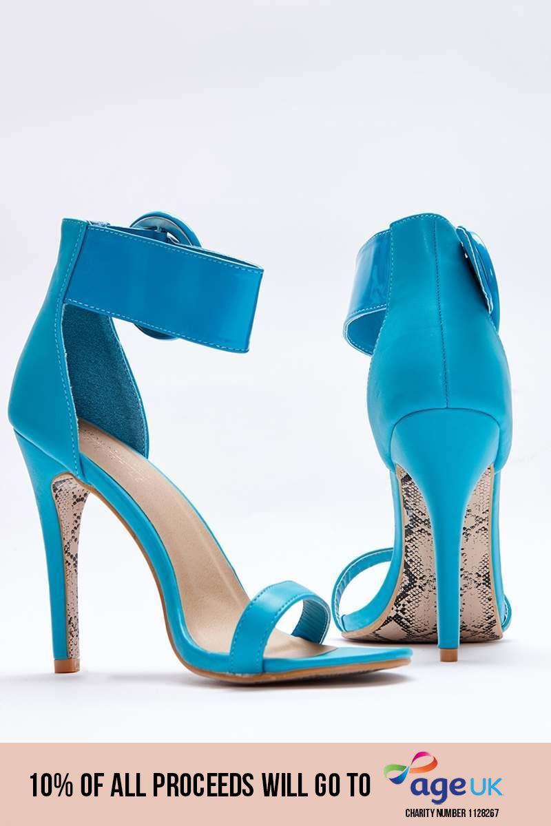 aqua patent barely there heels