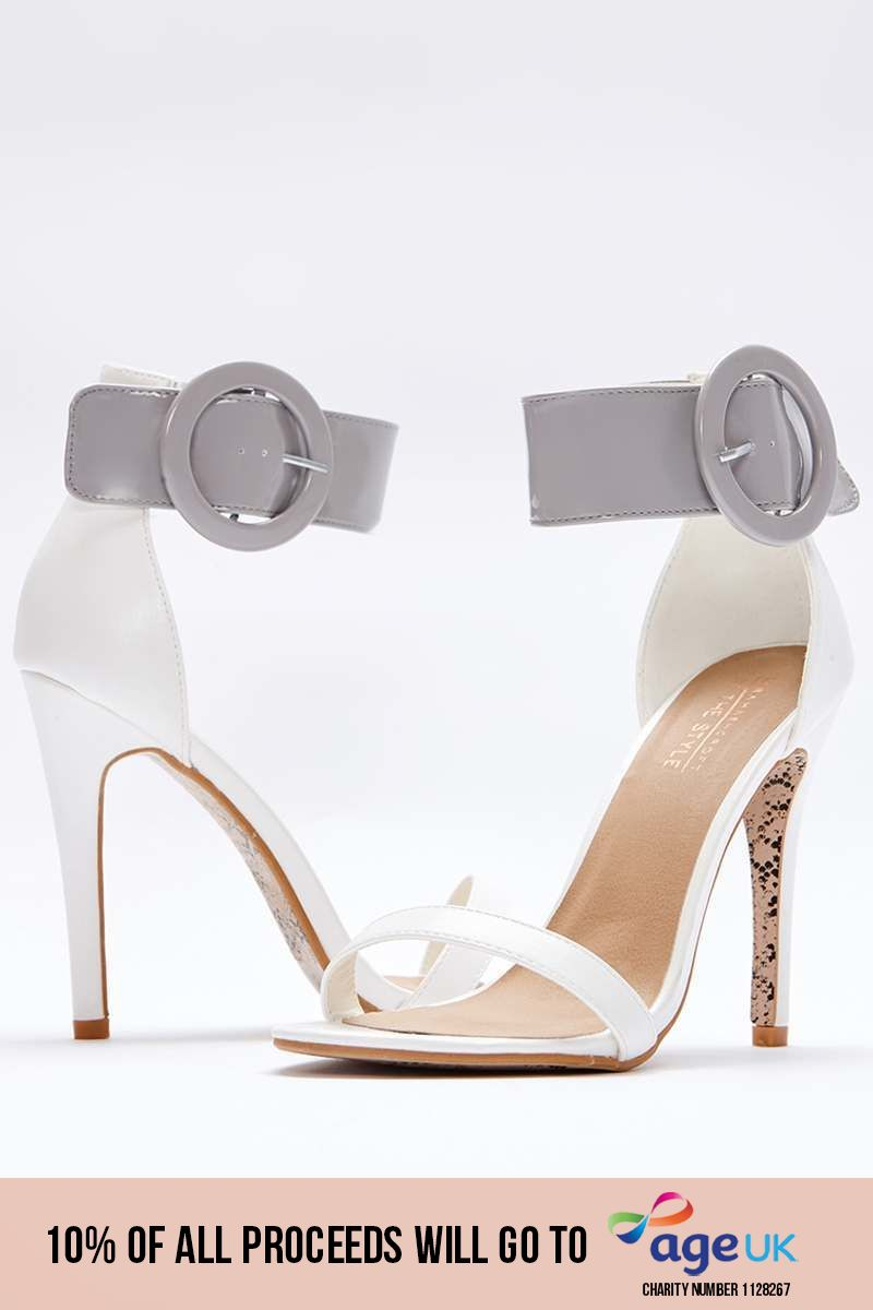 white patent barely there heels