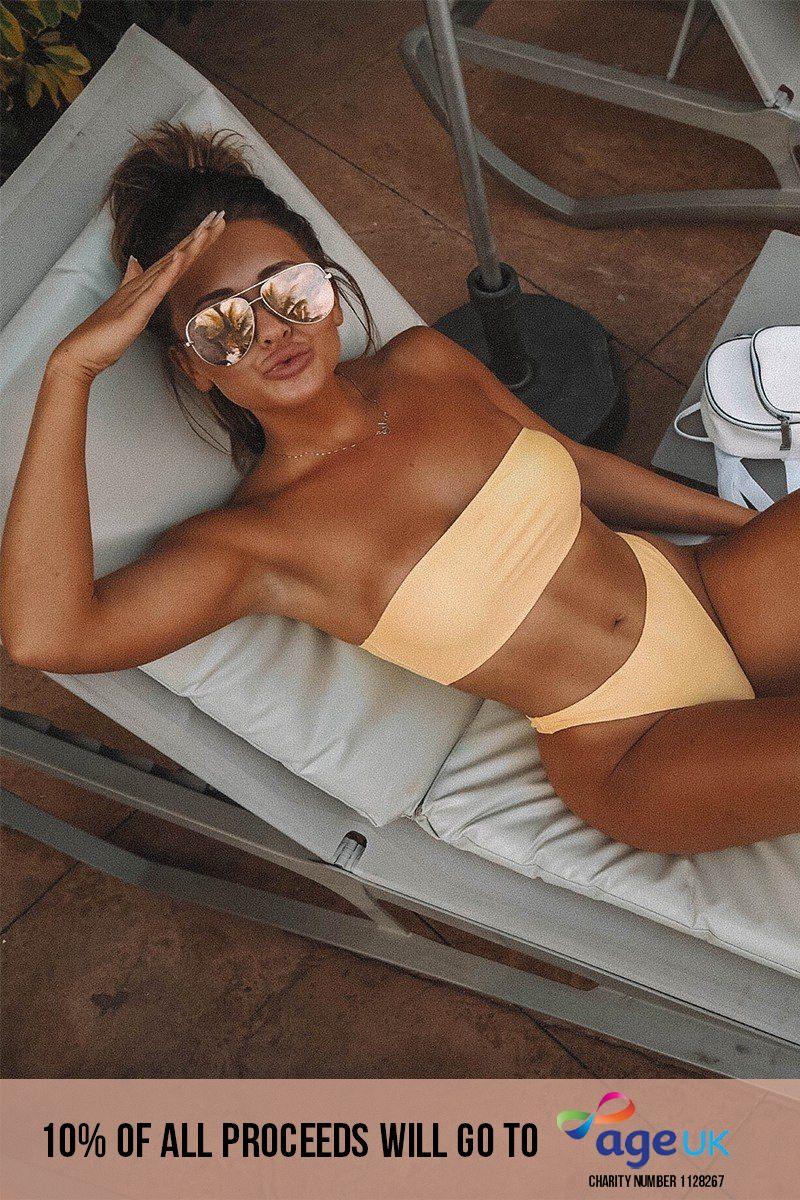 lemon bandeau bikini top