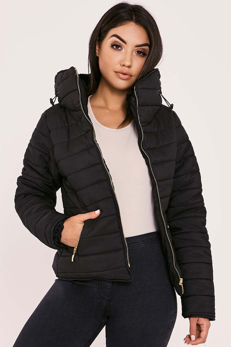 OSSIE BLACK PADDED JACKET