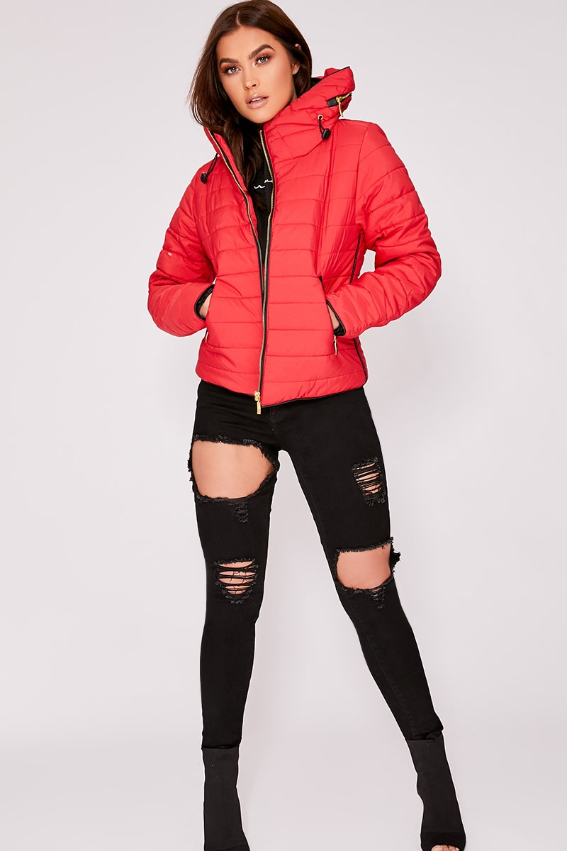 OSSIE RED PADDED JACKET