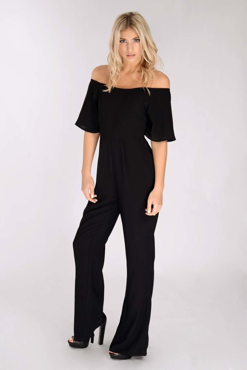 BINKY BLACK OFF THE SHOULDER JUMPSUIT
