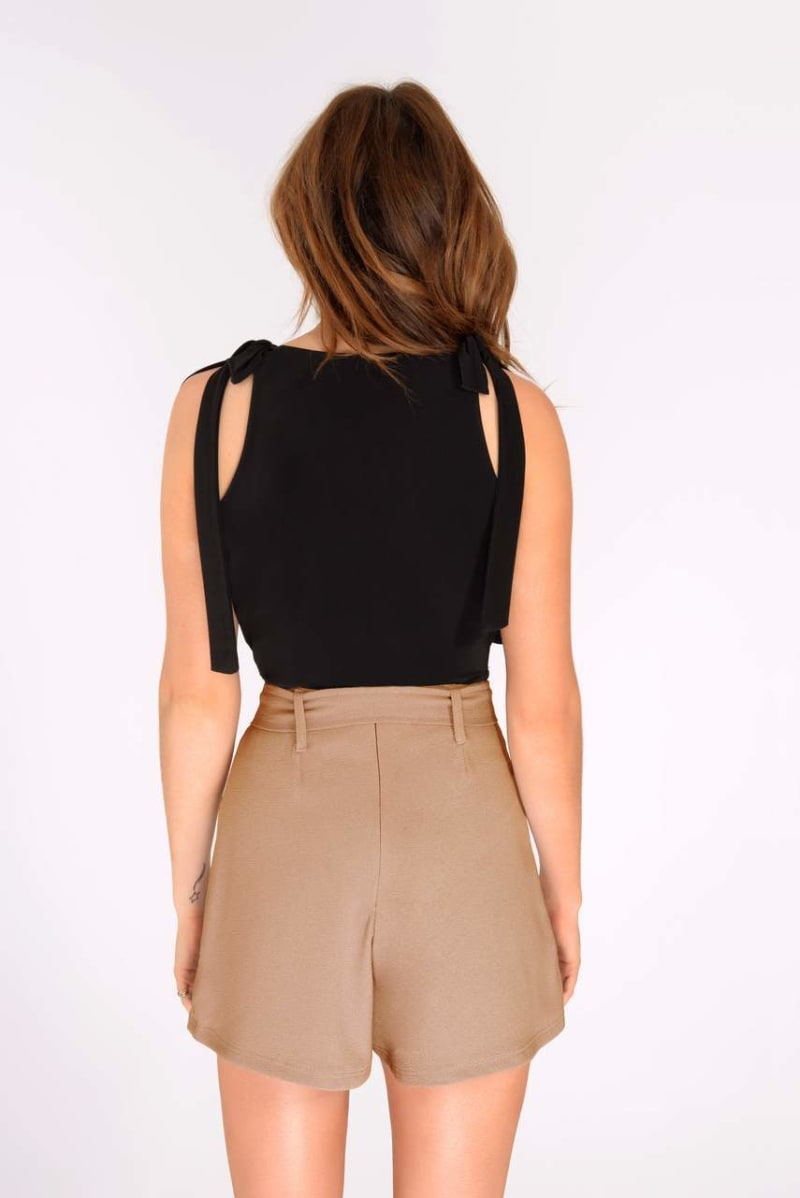 Binky Tan High Waisted Shorts