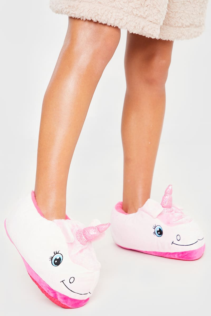 PINK UNICORN 3D SLIPPERS