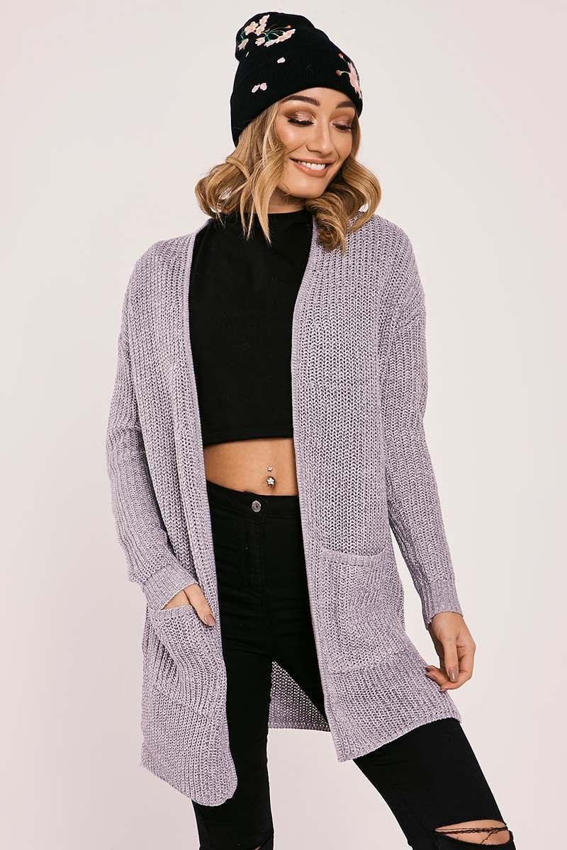 HARLIE GREY KNITTED LONGLINE CARDIGAN