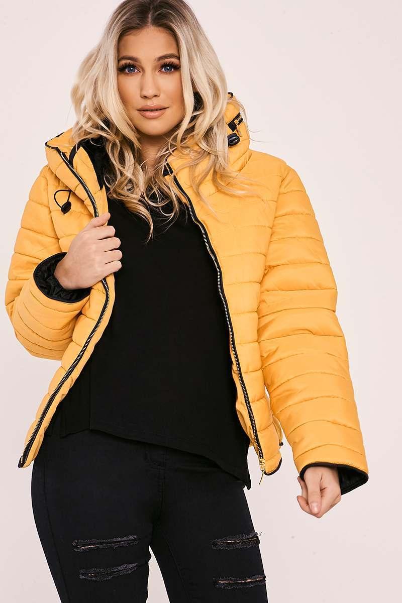 mustard padded jacket