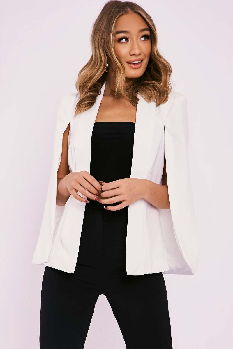 NOELLA CREAM CAPE BLAZER
