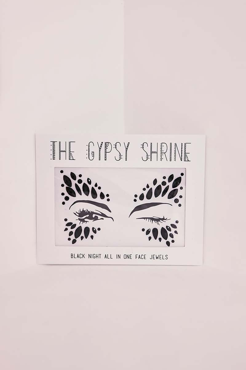 GYPSY SHRINE BLACK SWAN FACE JEWELS