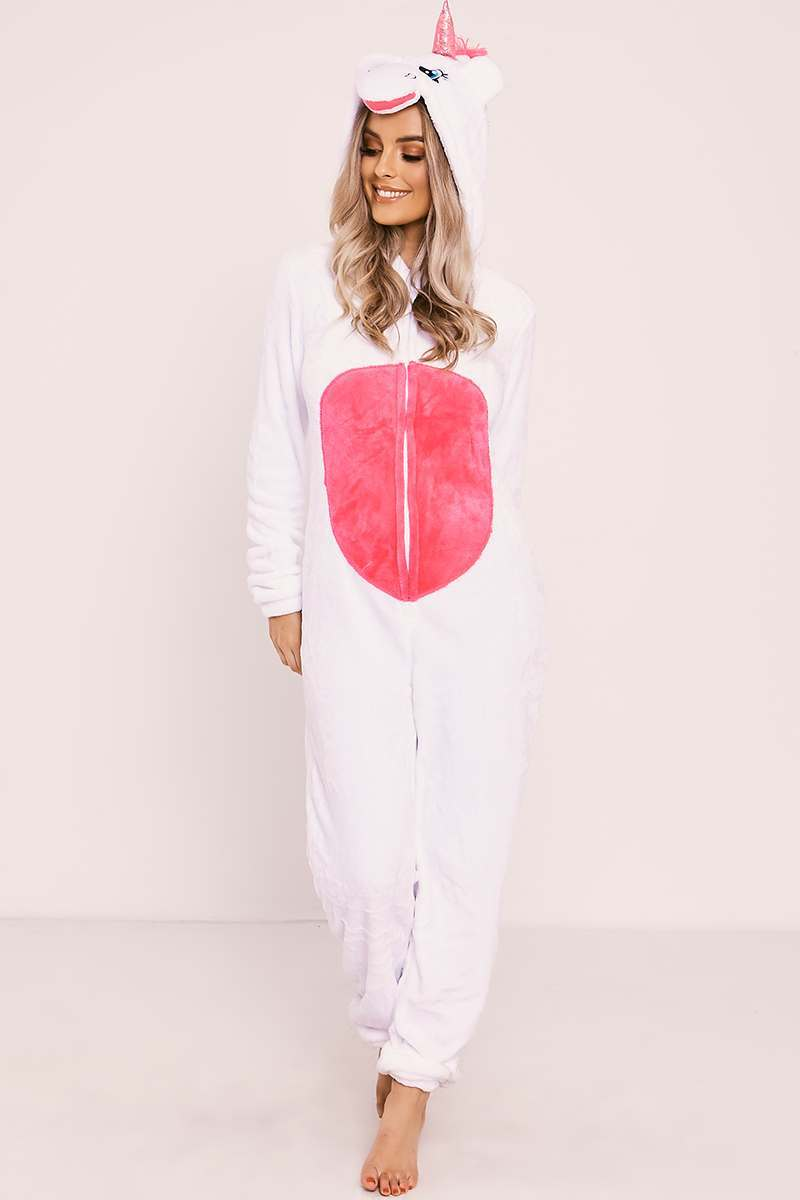 WHITE UNICORN 3D ONESIE