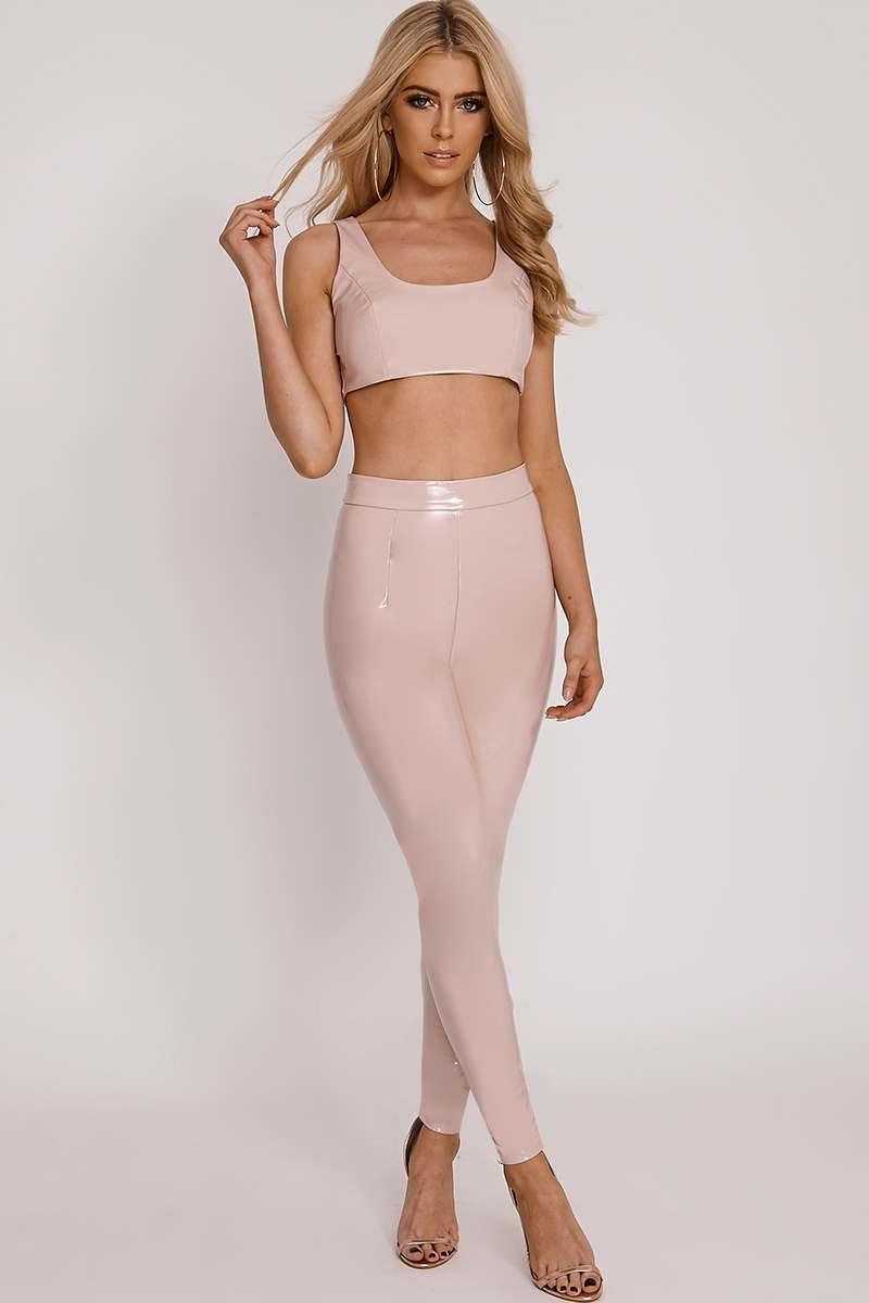 attwood pink vinyl leggings