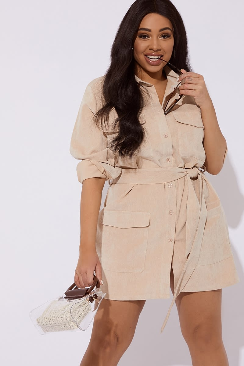 CURVE NUDE CORD UTILITY DRESS