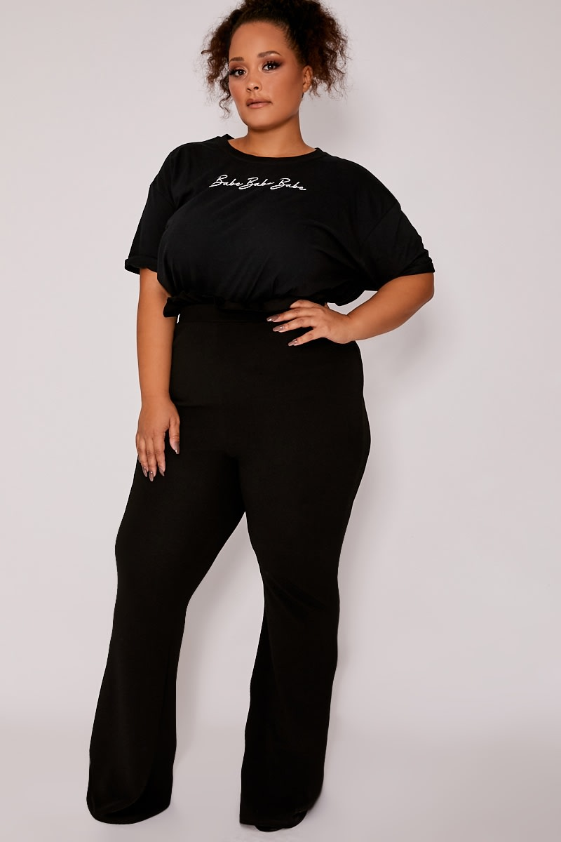 CURVE BLACK HIGH WAISTED PAPERBAG TROUSERS