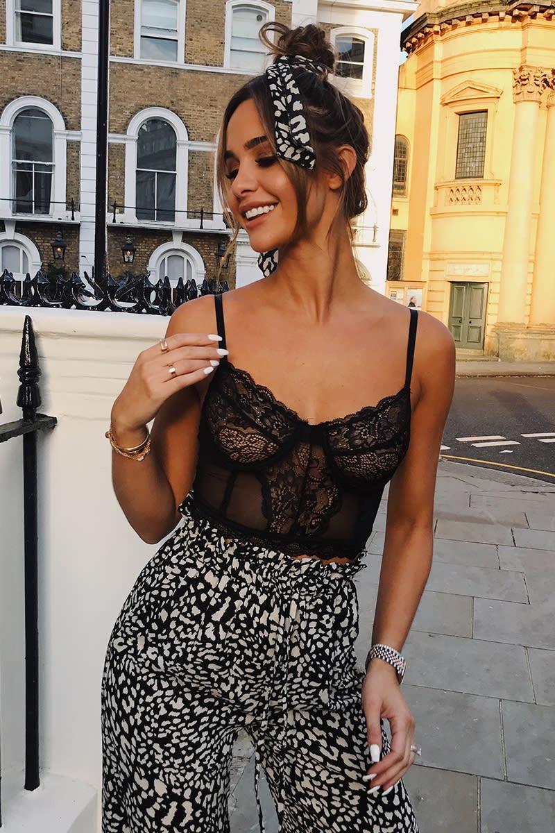 black lace mesh bralet