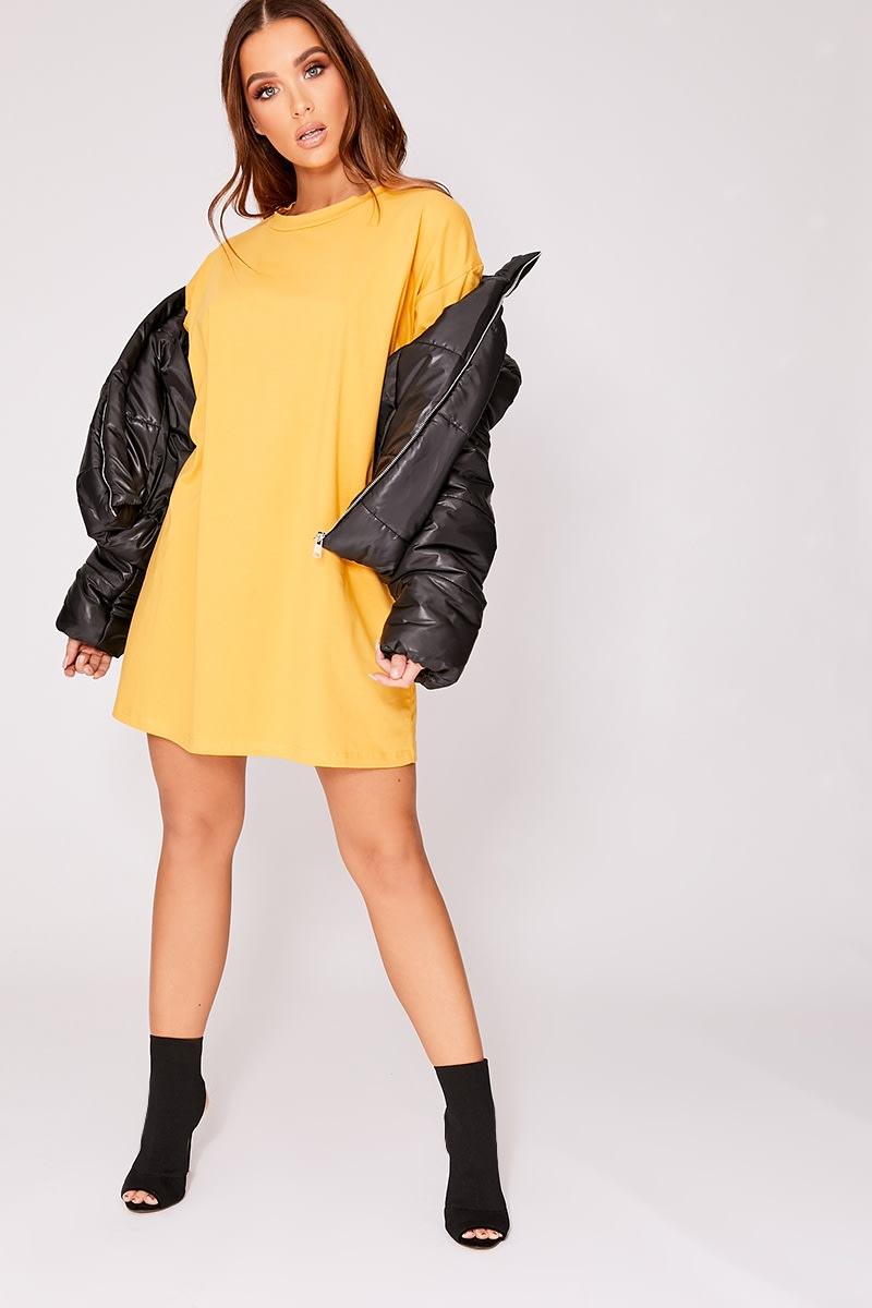 mustard basic oversized t shirt