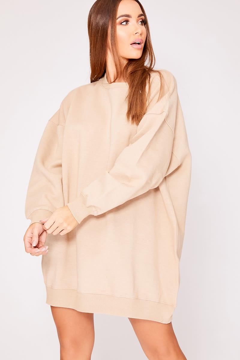 stone oversized sweater dress