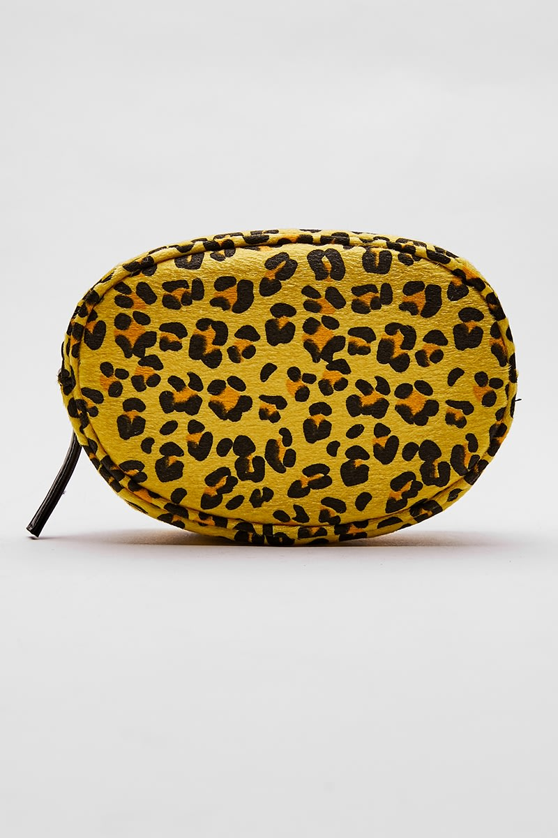 YELLOW LEOPARD PRINT BELT BAG
