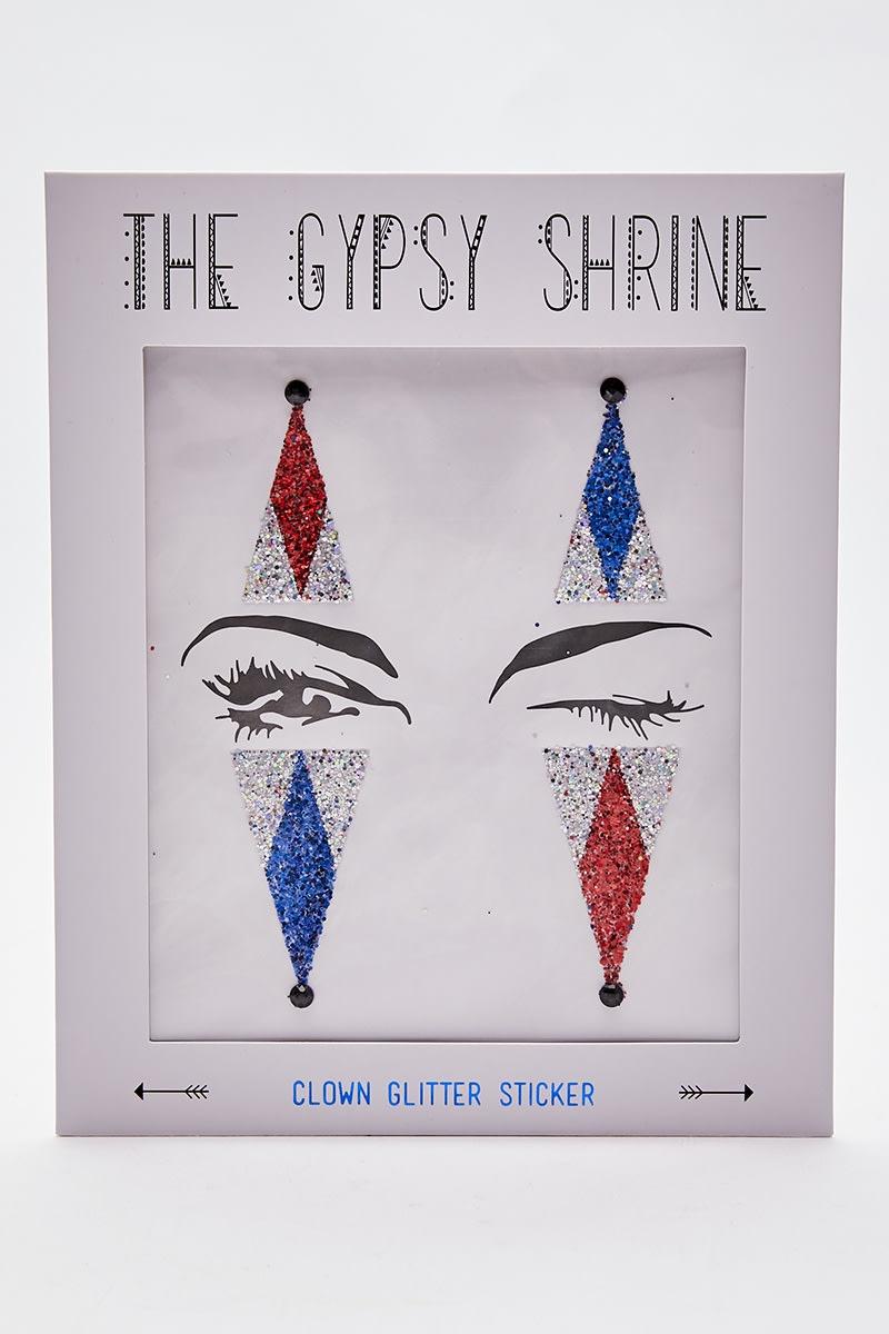 GYPSY SHRINE CLOWN GLITTER STICKER