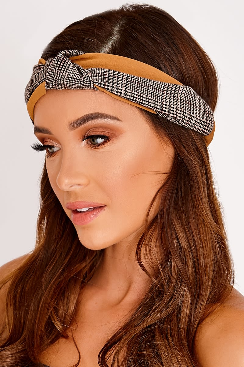 TAN CHECK PRINT HEADBAND
