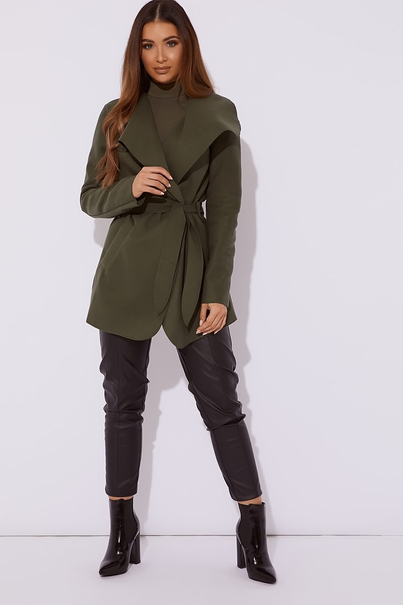khaki short waterfall jacket