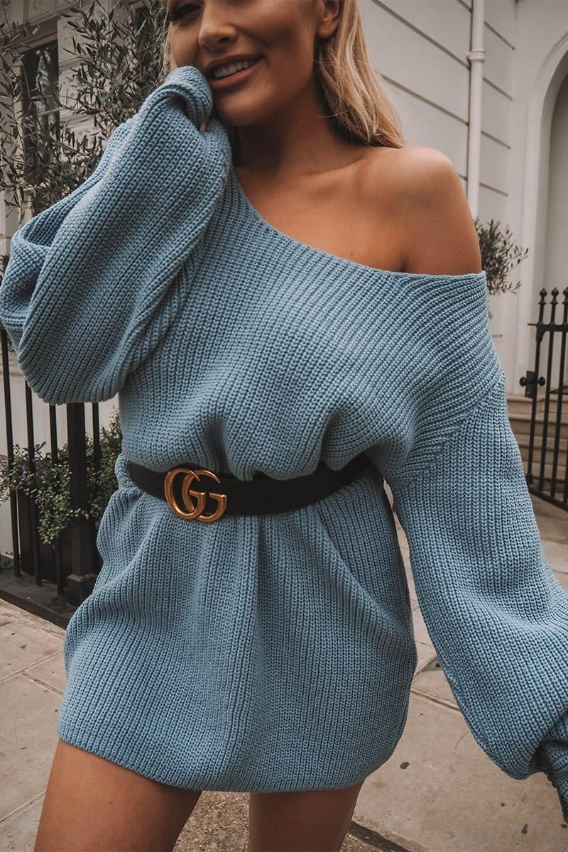 blue oversized multiway jumper dress