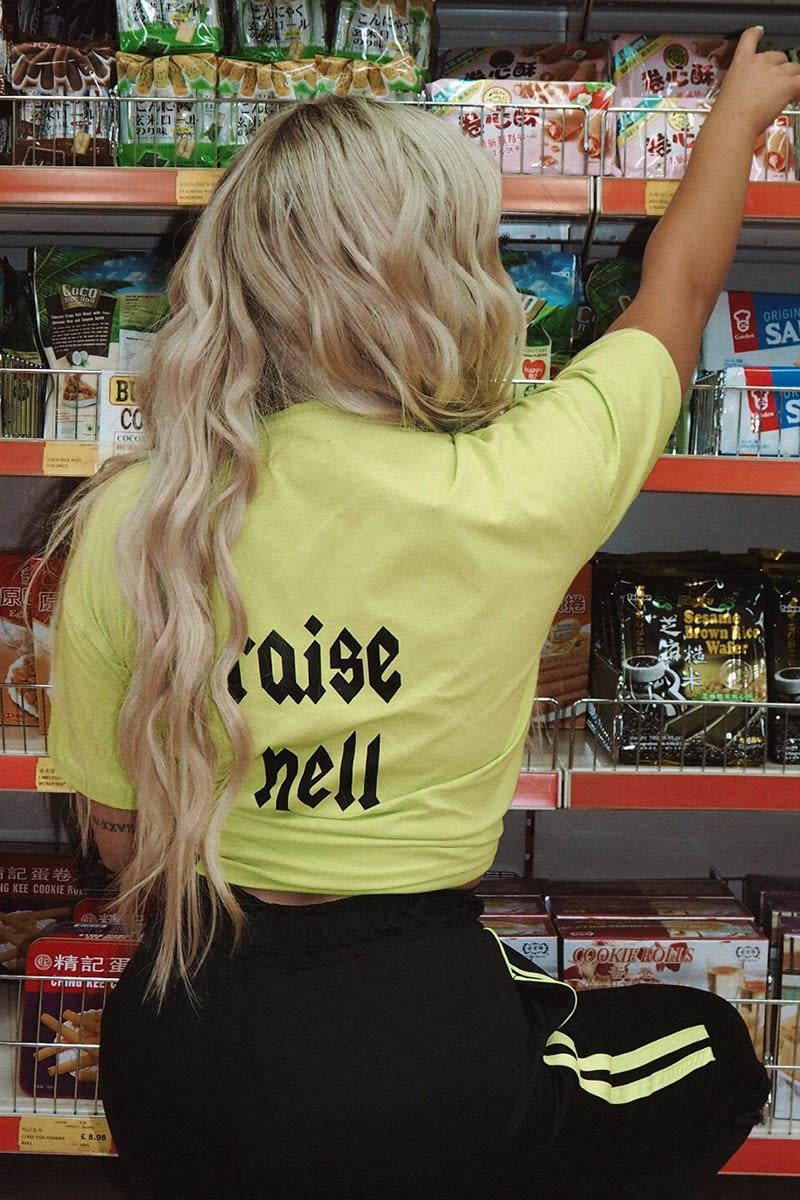 lime raise hell boyfriend fit t shirt