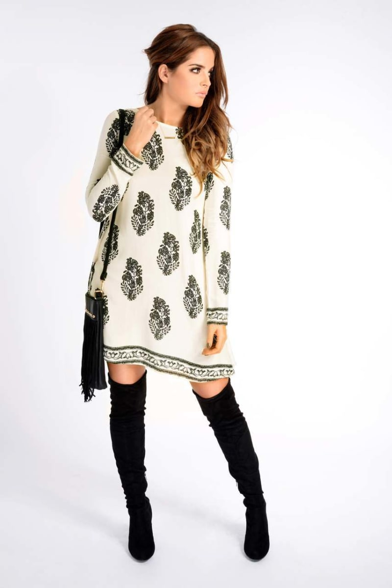 Binky Border Print Dress