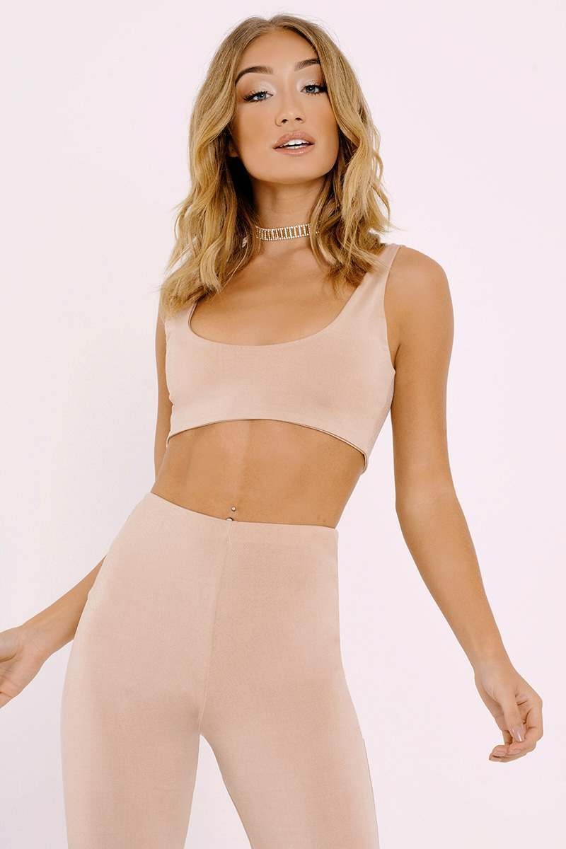 JODIA NUDE SLINKY CROP TOP