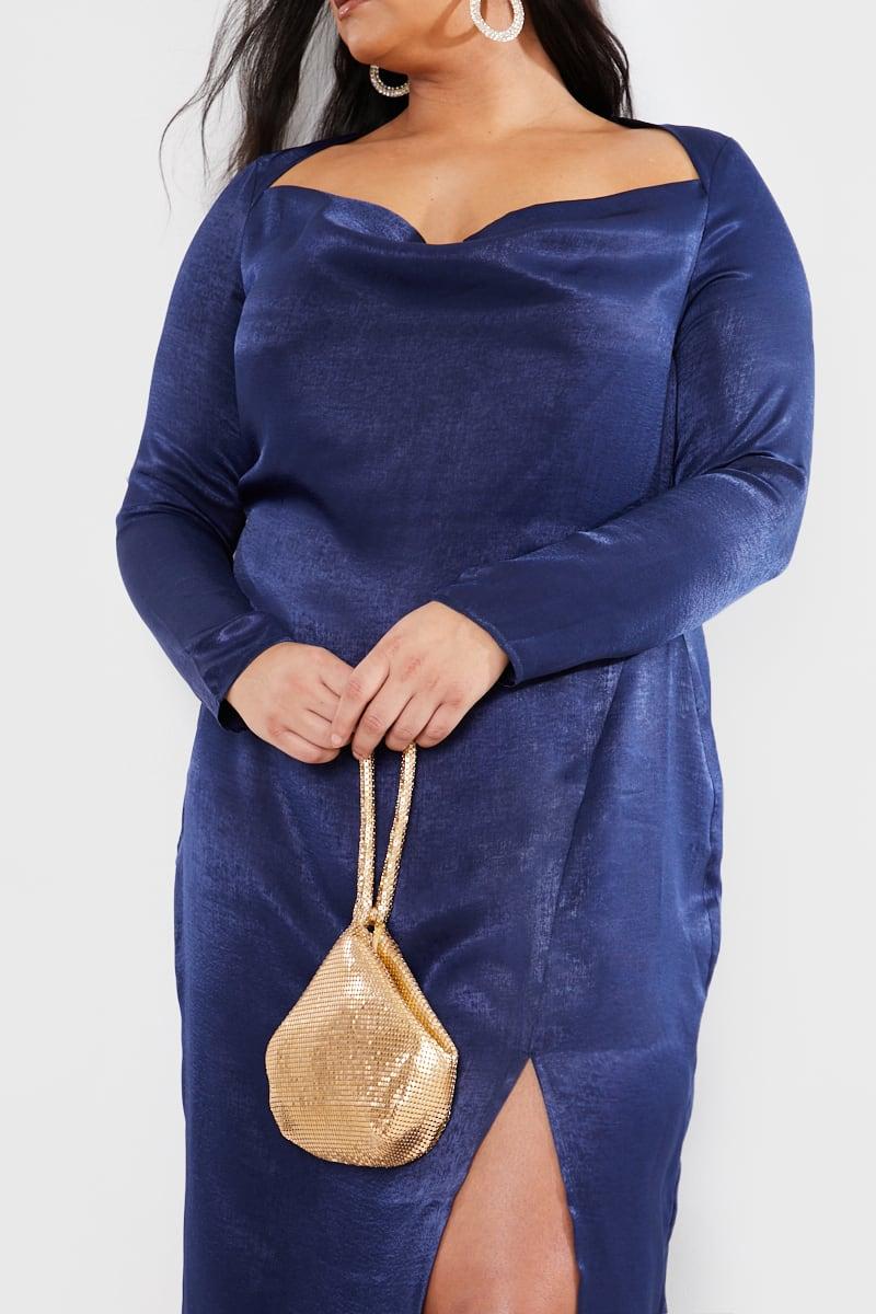 CURVE LAURA JADE NAVY 'THE ELLIE' MIDI DRESS