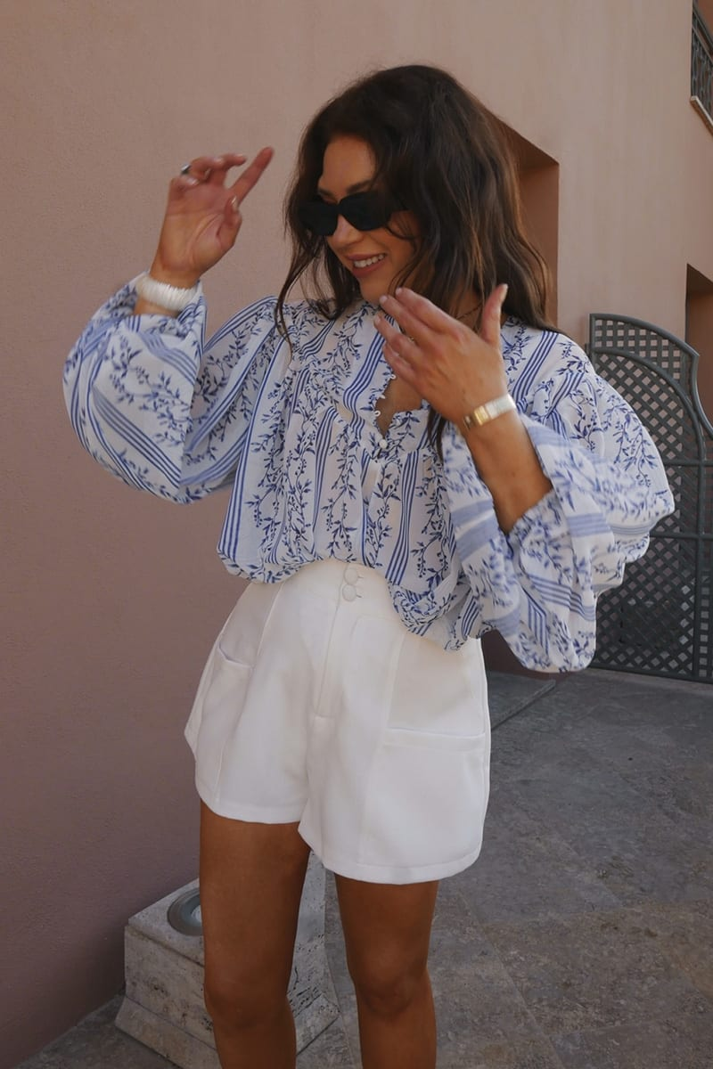 LORNA LUXE WHITE 'WORKING GIRL' SHORTS | In The Style (UK)