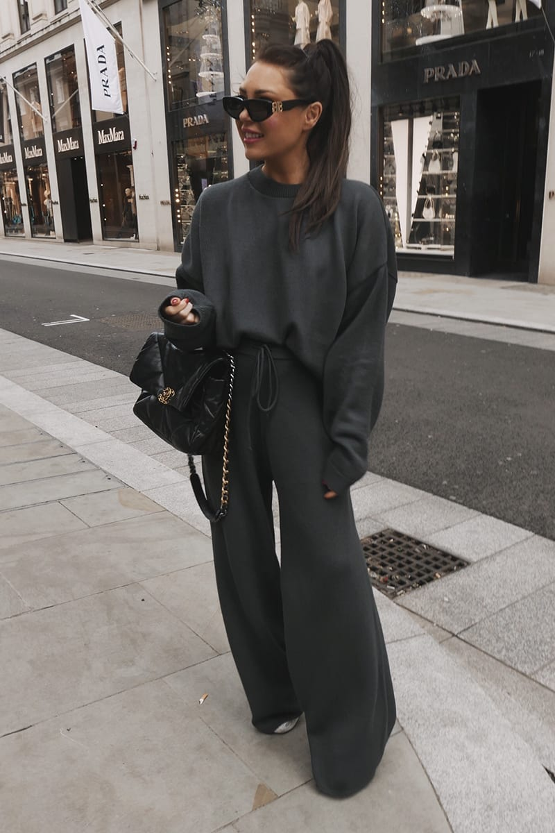 LORNA LUXE GREY 'LOLA' CO-ORD TROUSER