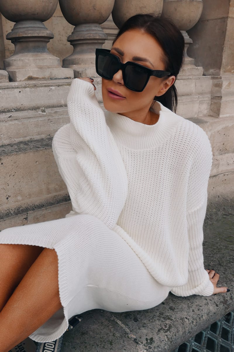 LORNA LUXE CREAM 'TRISTAN' KNIT CO-ORD TOP