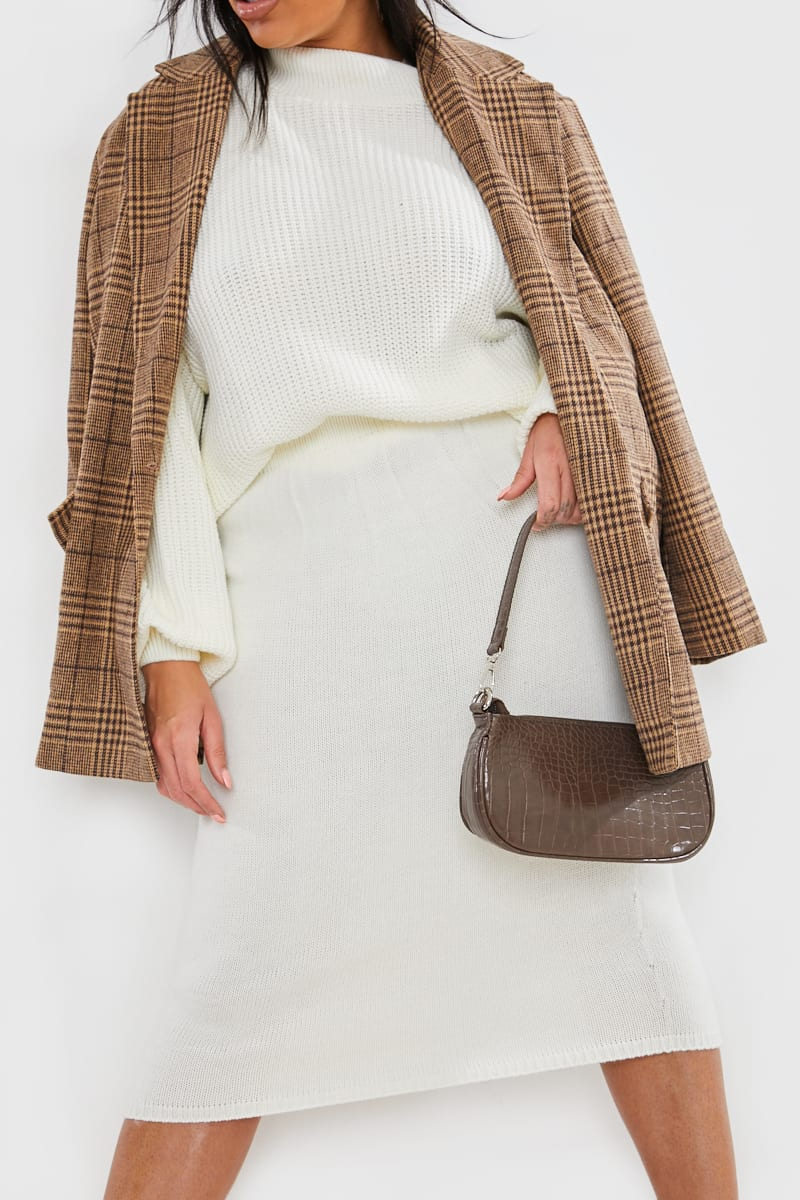 CURVE LORNA LUXE CREAM 'ISOLDE' KNIT CO-ORD SKIRT