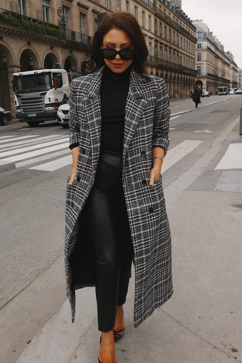 LORNA LUXE BLACK 'PARISIENNE' THE PERFECT COAT