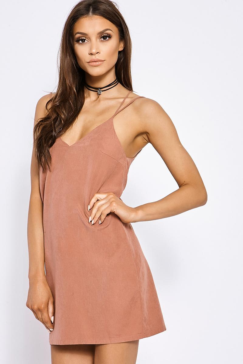 FIFI ROSE SUEDETTE SLIP DRESS