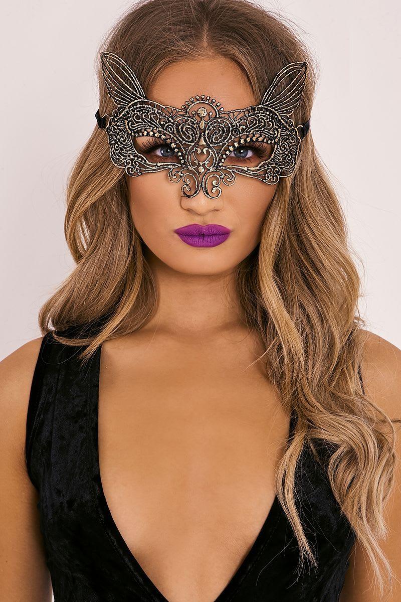 gold masquerade mask