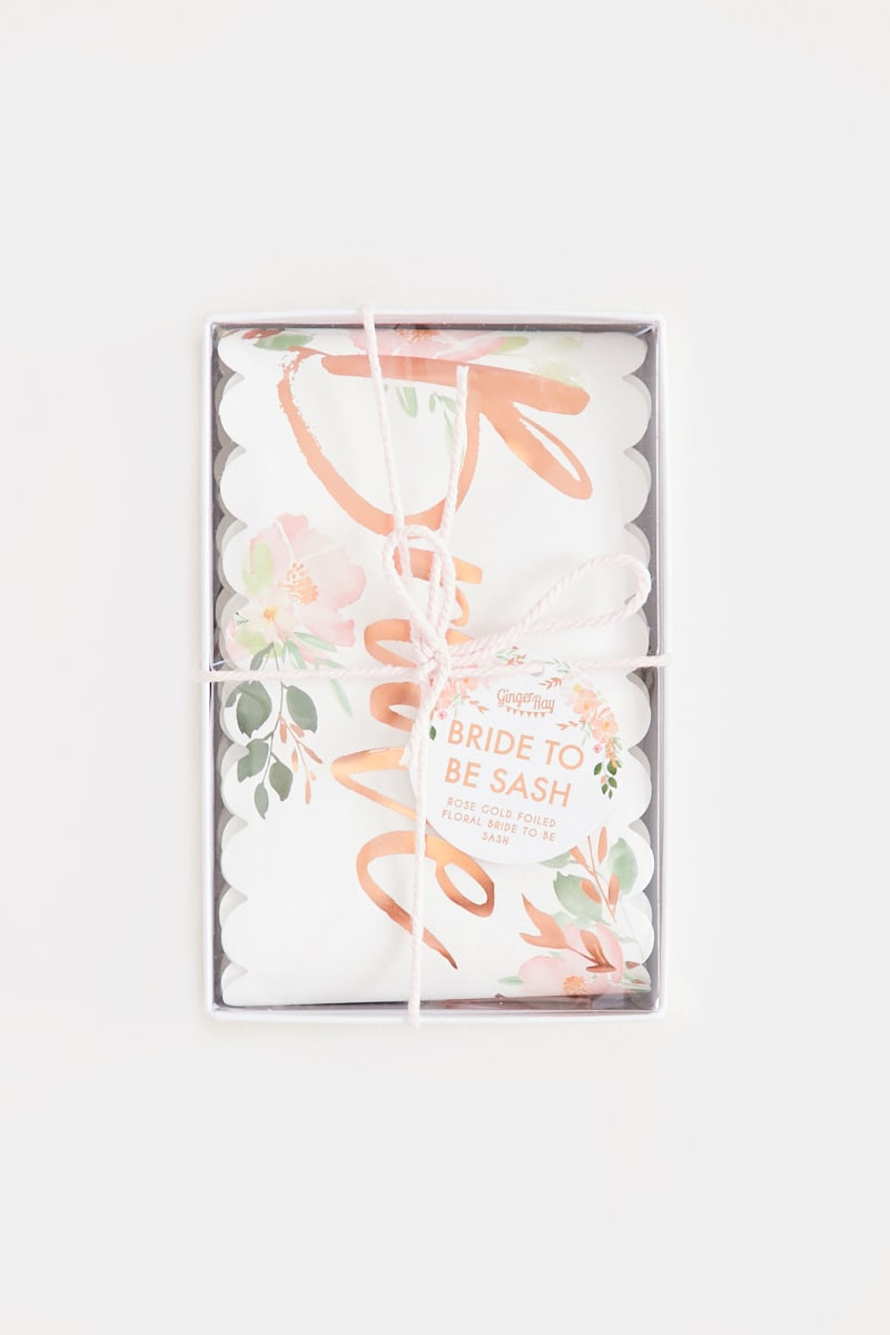 GINGER RAY BRIDE TO BE FLORAL SASH