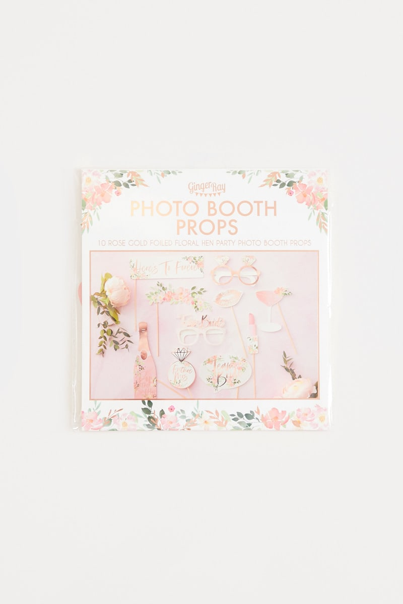 GINGER RAY BRIDAL FLORAL PHOTO BOOTH PROPS