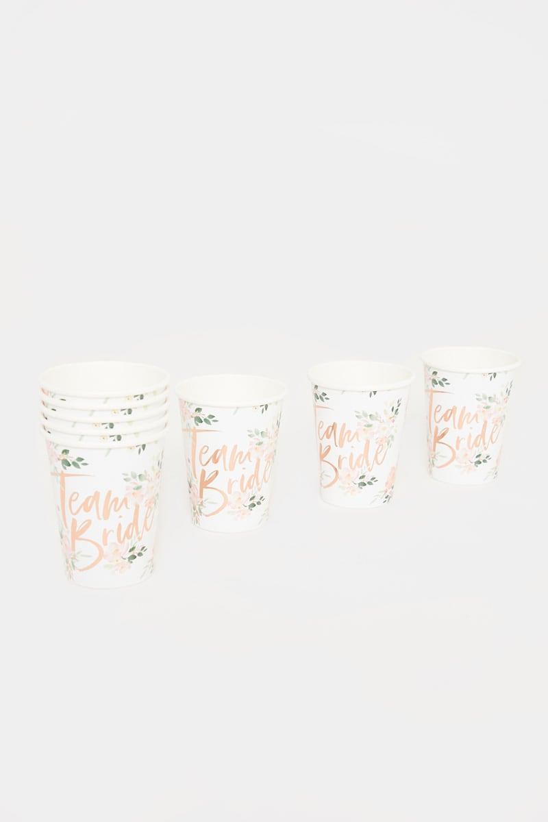 GINGER RAY BRIDAL CUPS 8 PACK