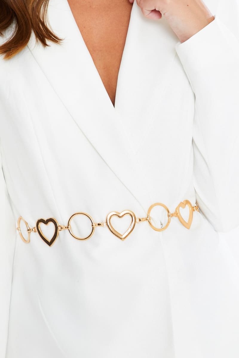 GOLD HEART BELT CHAIN