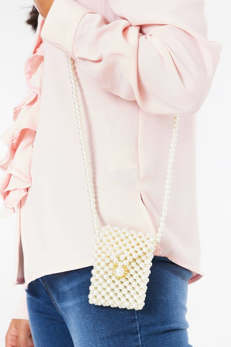 white pearl bag