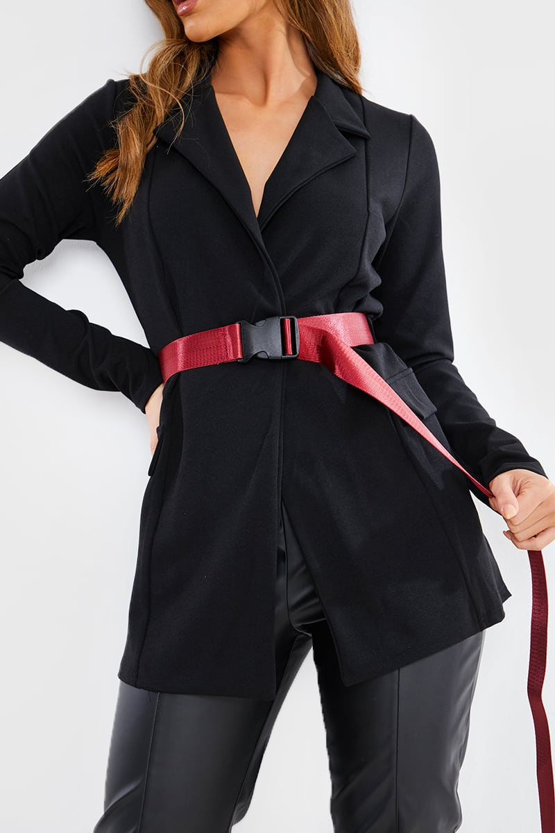 DARK RED SEATBELT BELT